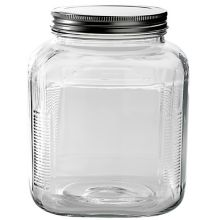Anchor Hocking 85725 Glass 1 Gal Cracker Jar with Brushed Aluminum Lid