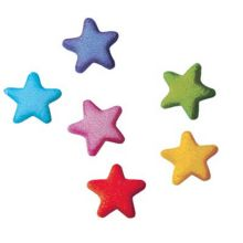 Lucks™ 36055 Dec-Ons® Rainbow Star Charms - 702 / BX