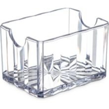 Carlisle® 454907 Crystalite® Clear Sugar Caddy - Dozen