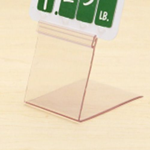 "Shaw & Slavsky EASEL-1X24 Clear 24"" x 1"" Deli Price Tag Holder"