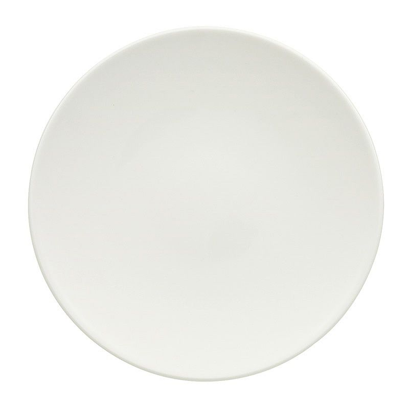 "Villeroy & Boch 16-3293-2661 White 6.25"" Flat Coupe Plate - 6 / CS"