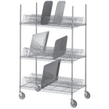 Channel Mfg. W3TD-3 Tray Drying Rack with 15 Slots per Shelf