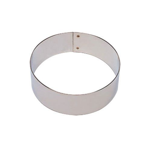 "Matfer Bourgeat 371206 S/S 8"" x 1-3/8"" Bottomless Flan Ring"