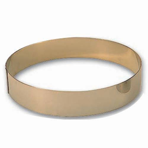 "Matfer Bourgeat 371411 S/S 10-1/4"" x 1-3/4"" Mousse Ring"