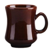 Diversified Ceramics DC100-LB Laredo Brown 8.5 Oz. Madrid Mug - 12 / CS