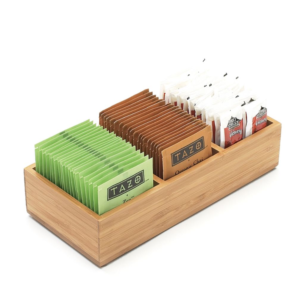 Cal-Mil 1246 Bamboo 3-Slot Condiment Holder