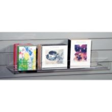 """Clear Solutions 8043SW Acrylic 36"""" Shelf with Lip for Slatwall"""