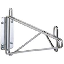 """Metro 1WD24C Chrome Plated Single 24"""" Wall Mount Shelf Support"""