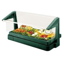 Cambro® BBR480519 Kentucky Green 3-Pan Buffet Bar w/ Sneeze Guard