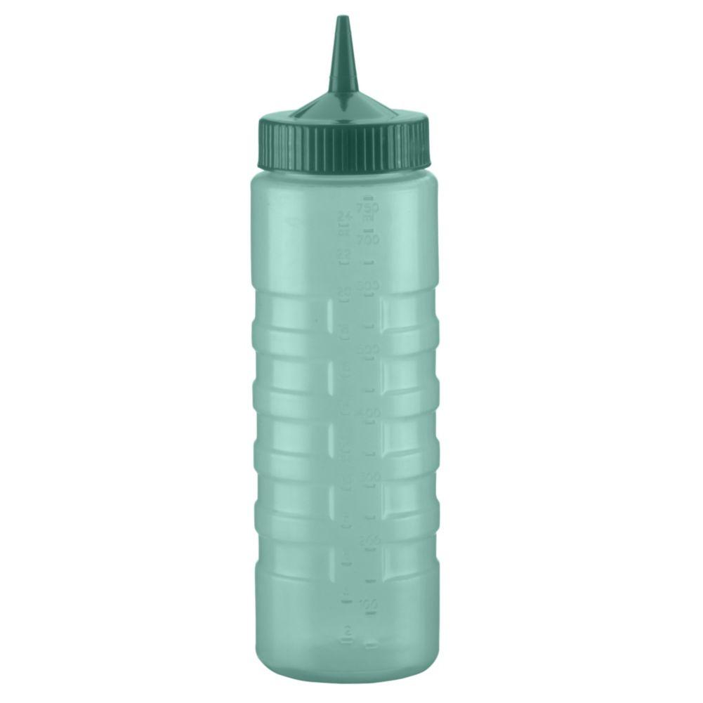 Traex 4924C-191 Color-Mate Green 24 Ounce Single Tip Squeeze Dispenser