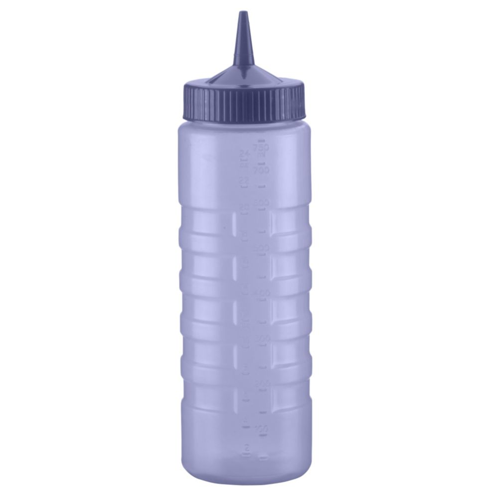 Traex 4924C-44 Color-Mate Blue 24 Ounce Single Tip Squeeze Dispenser