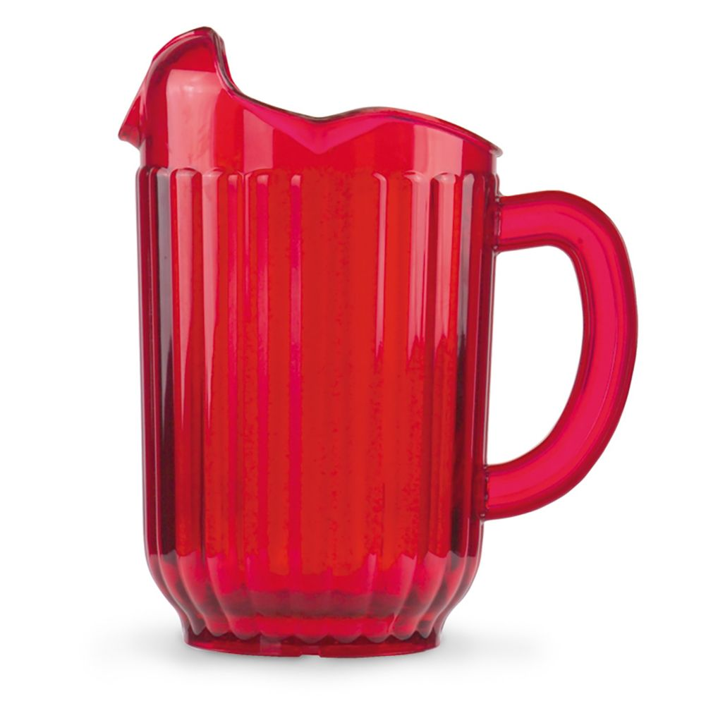 Traex 6010-22 Ruby Red 3 Lipped Tuffex Deluxe 60 Ounce Pitcher