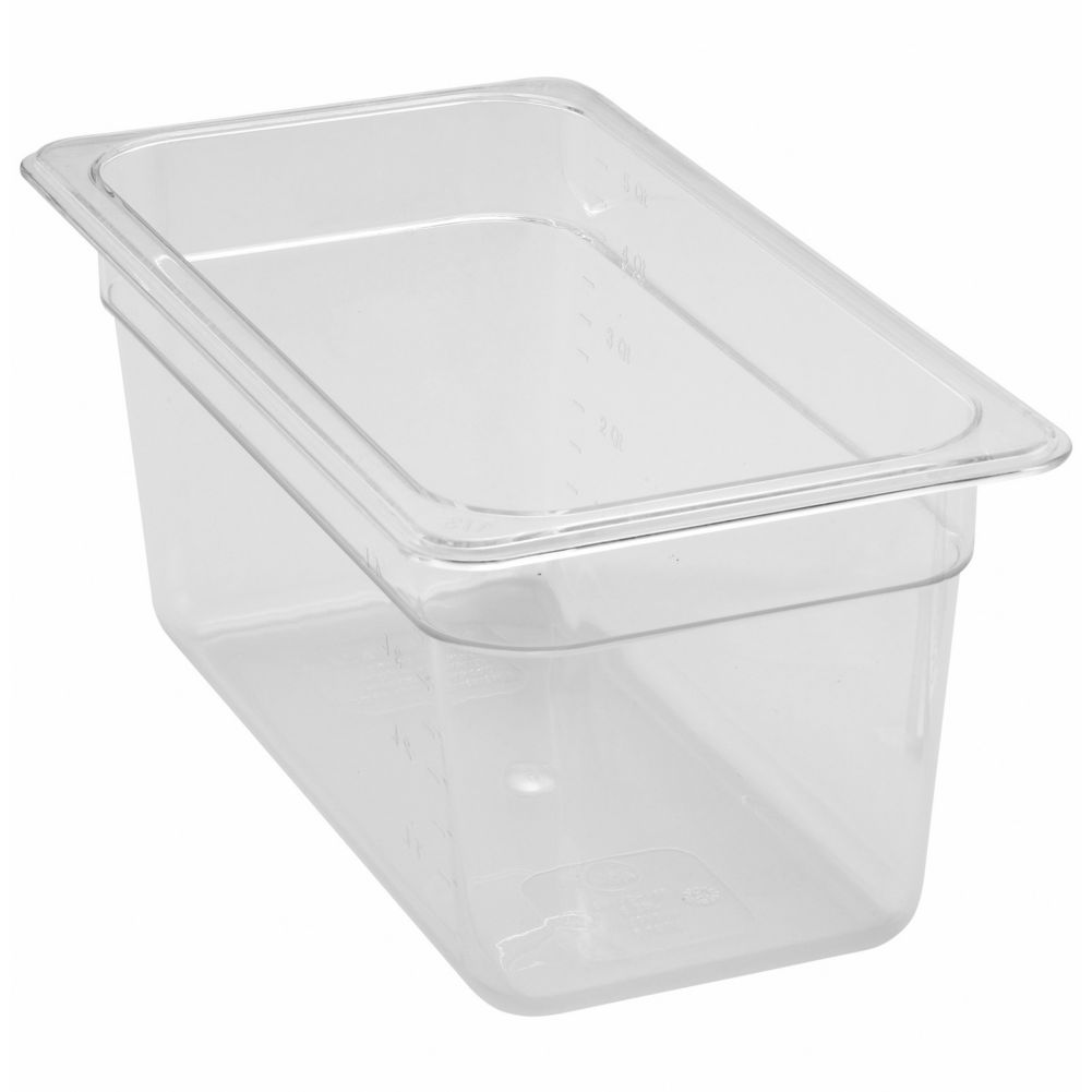"Update International Clear Polycarbonate Third Size 6"" Deep Pan"
