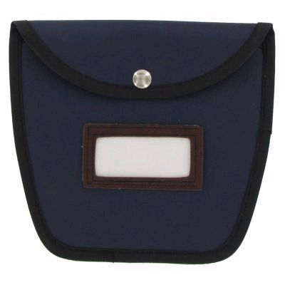 Block & Company 234059608 Navy Divided Pockets Change Bag