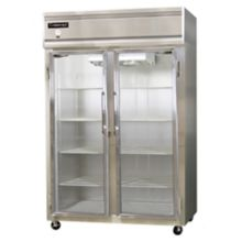 Continental 2F-LT-SS-GD S/S 48 Cu Ft Low-Temp Reach-In Display Freezer