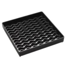 "Carlisle® 1102603 NeWave™ 6"" Square Black Drip Tray"