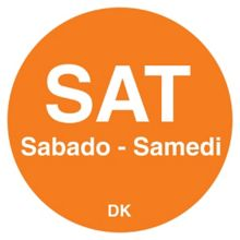 "DayMark 1100596 Trilingual 3/4"" Saturday Day Circle - 2000 / RL"