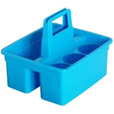 Plastic Utility Basket For Cleaning Supplies, Blue