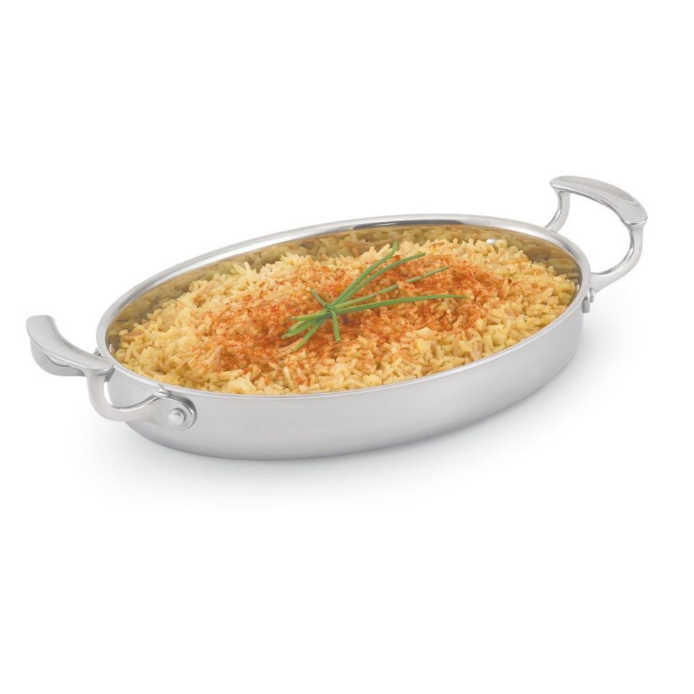Vollrath® 49412 Miramar™ 2.63 Quart Oval Au Gratin Pan