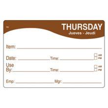DayMark 1124674 ReMark™ 2 x 3 Thursday Day Label - 500 / RL