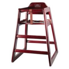 Winco® CHH-103 Mahogany Stacking Unassembled High Chair