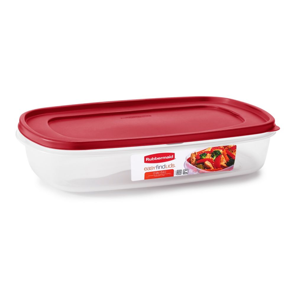 Rubbermaid® 1777163 Easy Find Lids® Red 1.5-Gal. Container