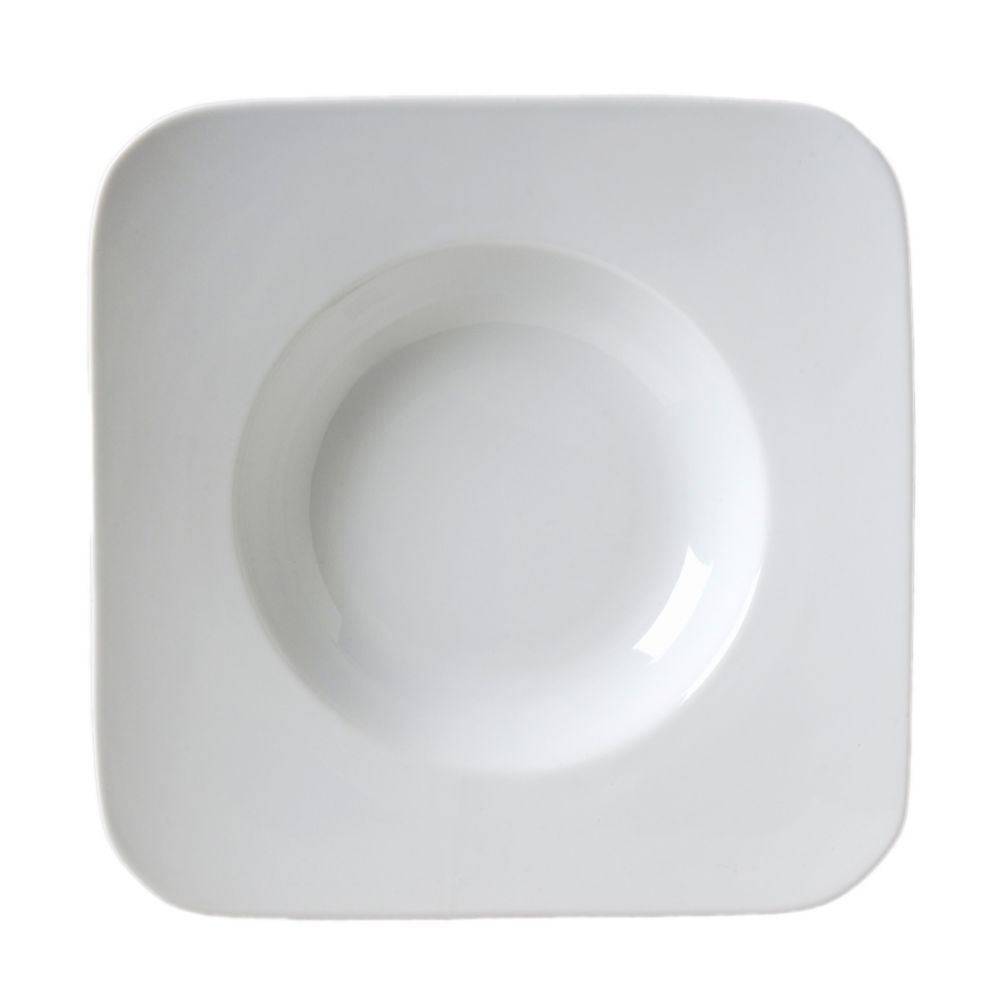 "Vertex® China AV-SQB20 Ventana 11.38"" Square Bowl - 12 / CS"