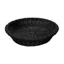 "G.E.T. WB-1502-BK Designer Polyweave Black 11.5"" Round Basket"
