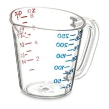 Carlisle® 4314107 1-Cup Clear Measuring Cup