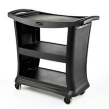 Rubbermaid® FG9T6800BLA Executive Black Service Cart