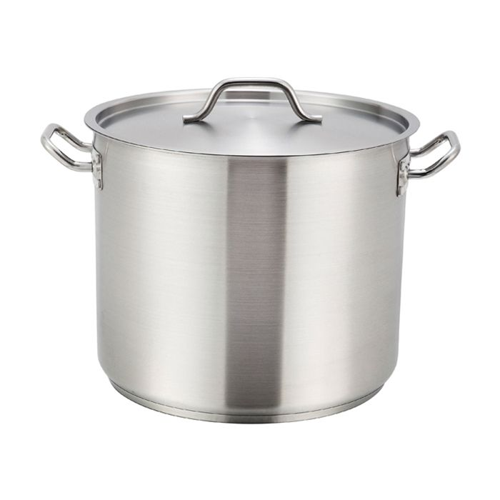 Winco® SST-40 S/S 40 Qt. Stock Pot with Cover