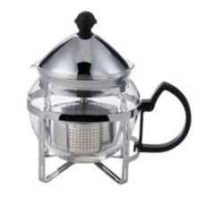 Service Ideas™ T600CC 20 Oz. S/S Holder with Glass Teapot