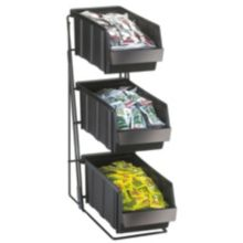 Cal-Mil 841 3 Bin Condiment Organizer with 3 Polycarbonate Bins