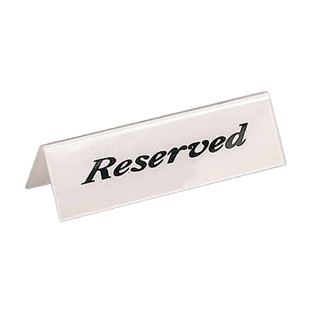 American Metalcraft 2601H Heavyweight Tabletop Reserved Sign