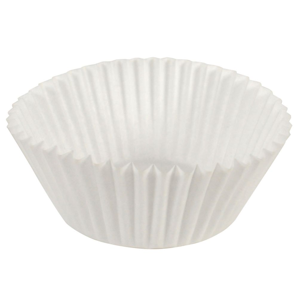 Hoffmaster® 610032 White 2 Oz. Fluted Bake Cup - 10000 / CS