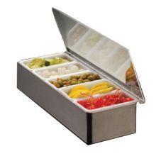 American Metalcraft CD5 S/S 5-Container Bar Condiment Dispenser