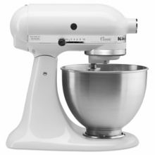 KitchenAid® K45SSWH Classic Series Mixer with 4-1/2 Qt. S/S Bowl