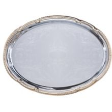 Carlisle® 608913 Celebration™ Oval Tray with Gold Border