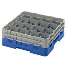 Cambro 16S534168 Camrack Blue 16 Comp. Full Size Glass Rack - 4 / CS