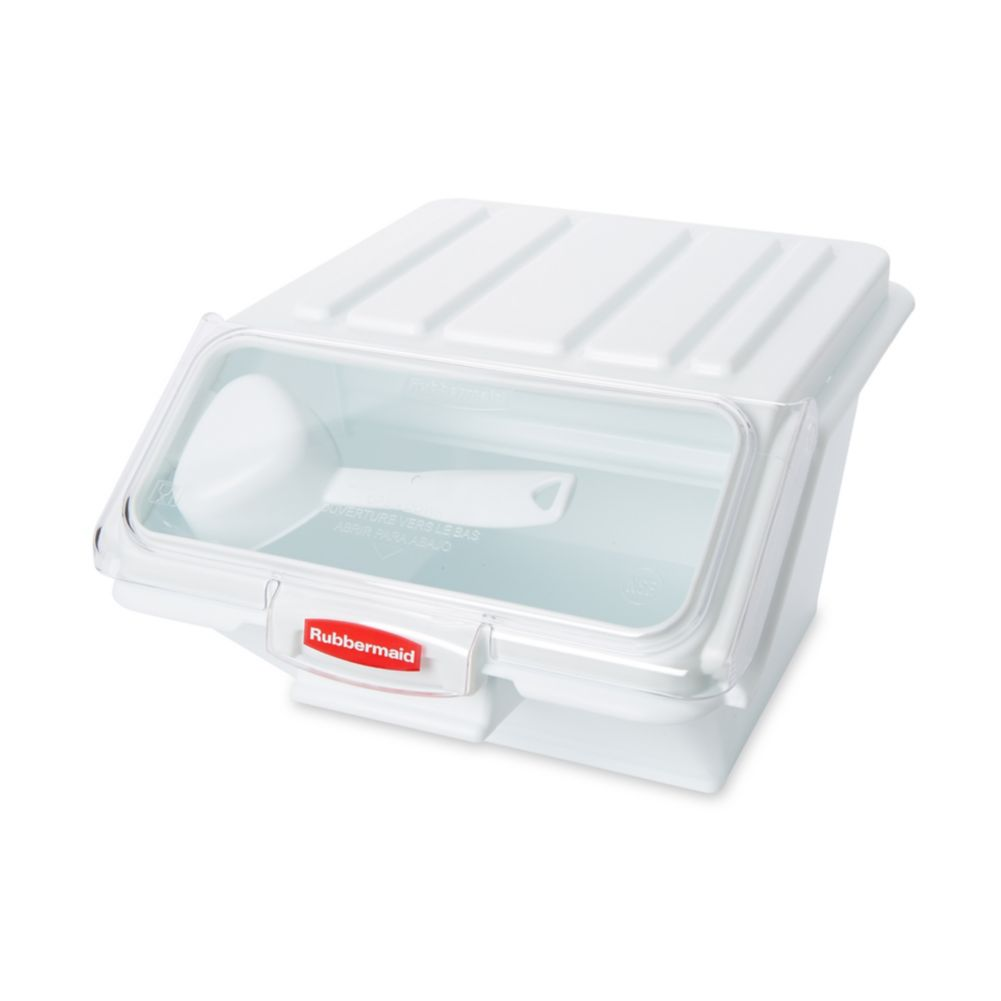 Rubbermaid® FG9G6000 White 40 Cup Storage Bin with Scoop