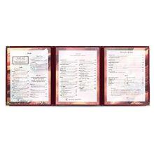 KNG International M3CG Triple Pocket Cafe Menu Cover