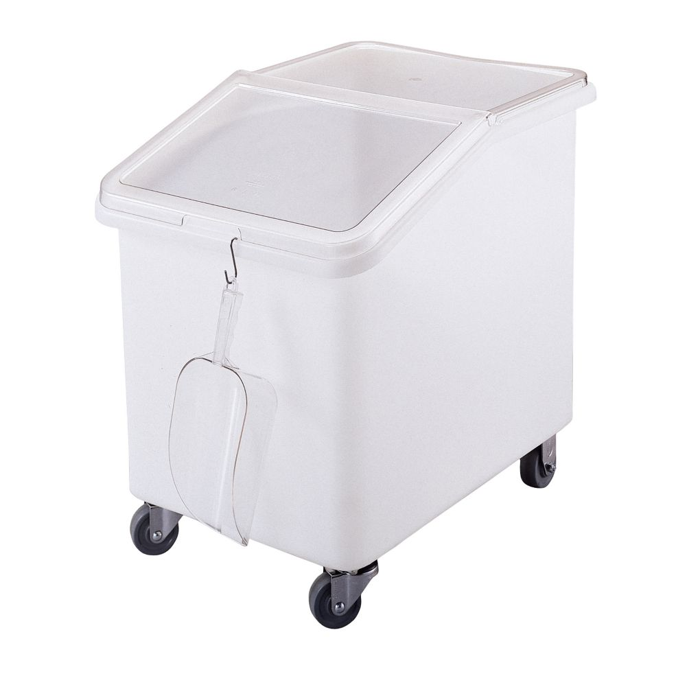 Cambro IBS37148 White 37 Gal. Ingredient Bin with Clear Lid - 1 / CS