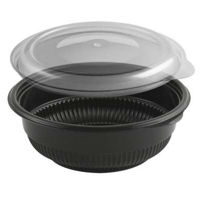 Anchor Packaging 4115816 Black 12 Oz. Incredi-Bowl Combo
