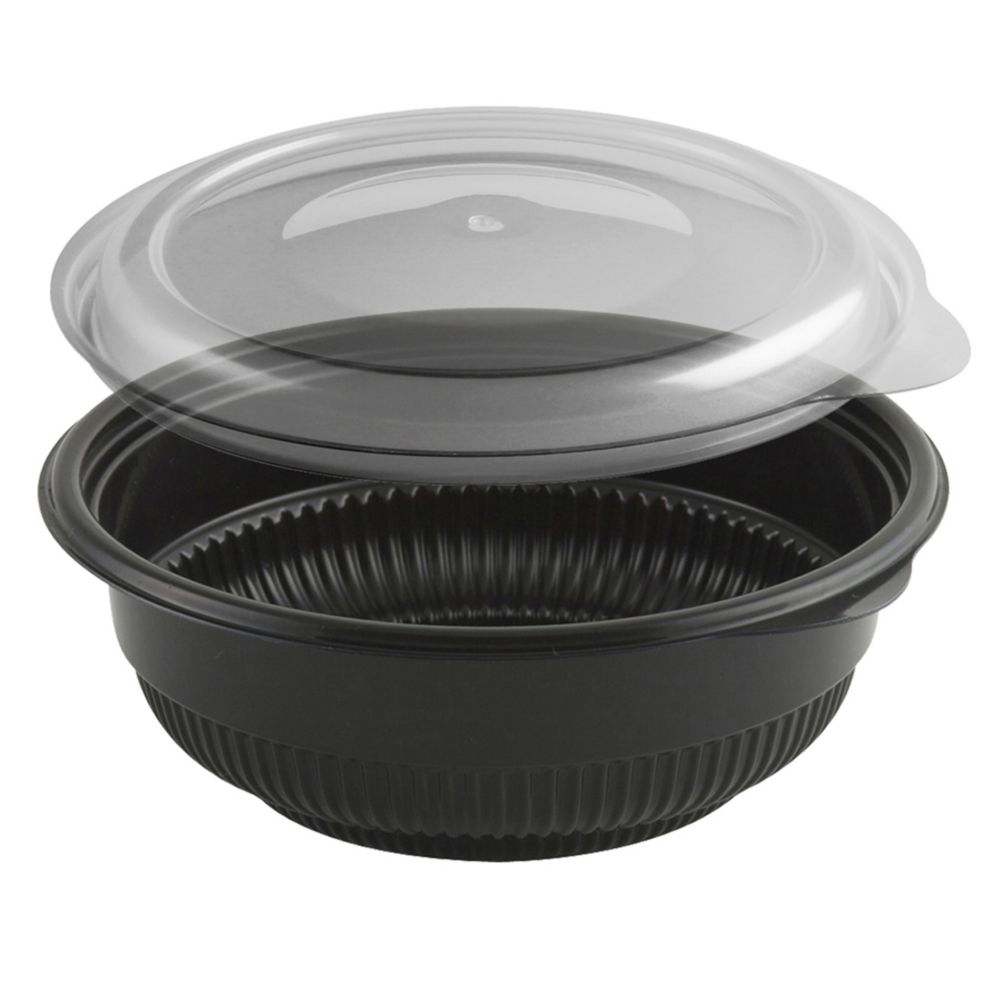 Anchor Packaging 4115816 Black 12 Oz. Incredi-Bowl Combo - 250 / CS