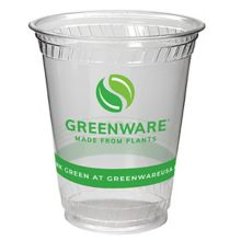 Fabri-Kal 9509117 Greenware® 7 Ounce Compostable Cup - 1000 / CS