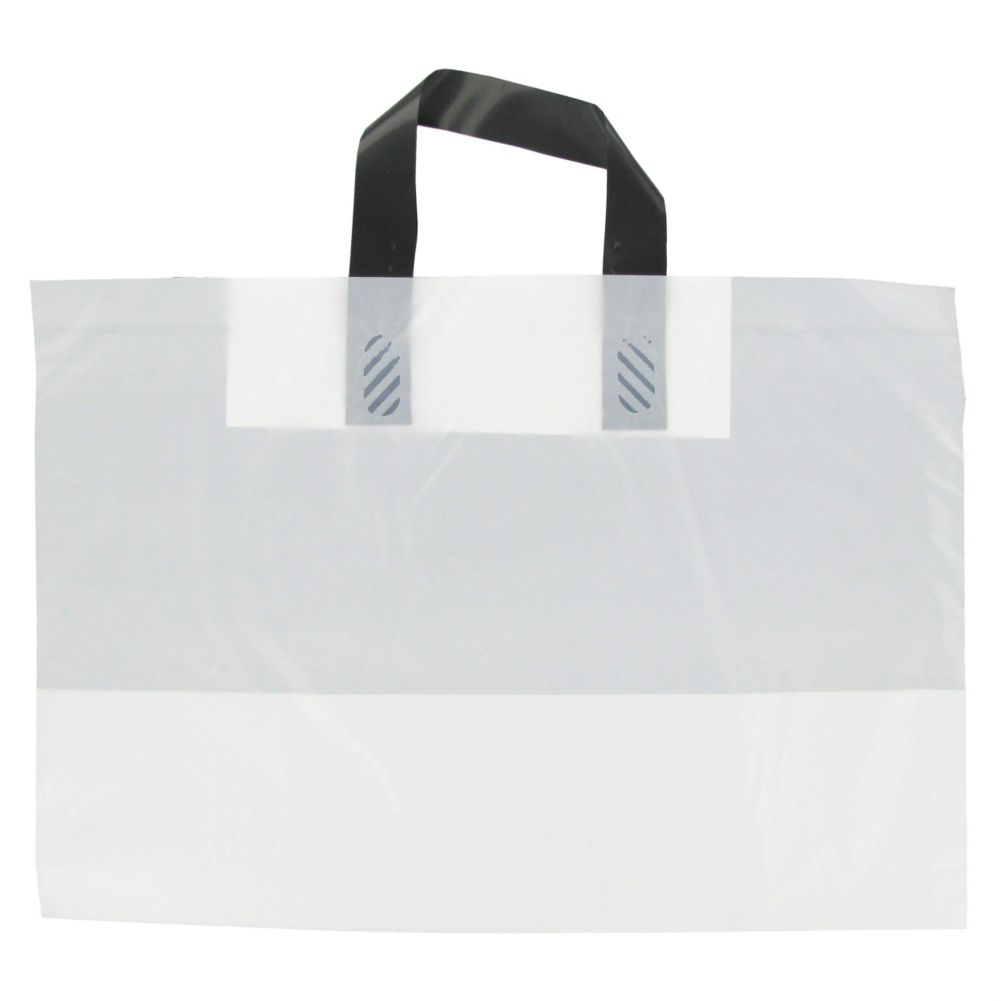 Command Packaging A16WT White Carry-Out Bag W/ Loop Handle - 500 / CS