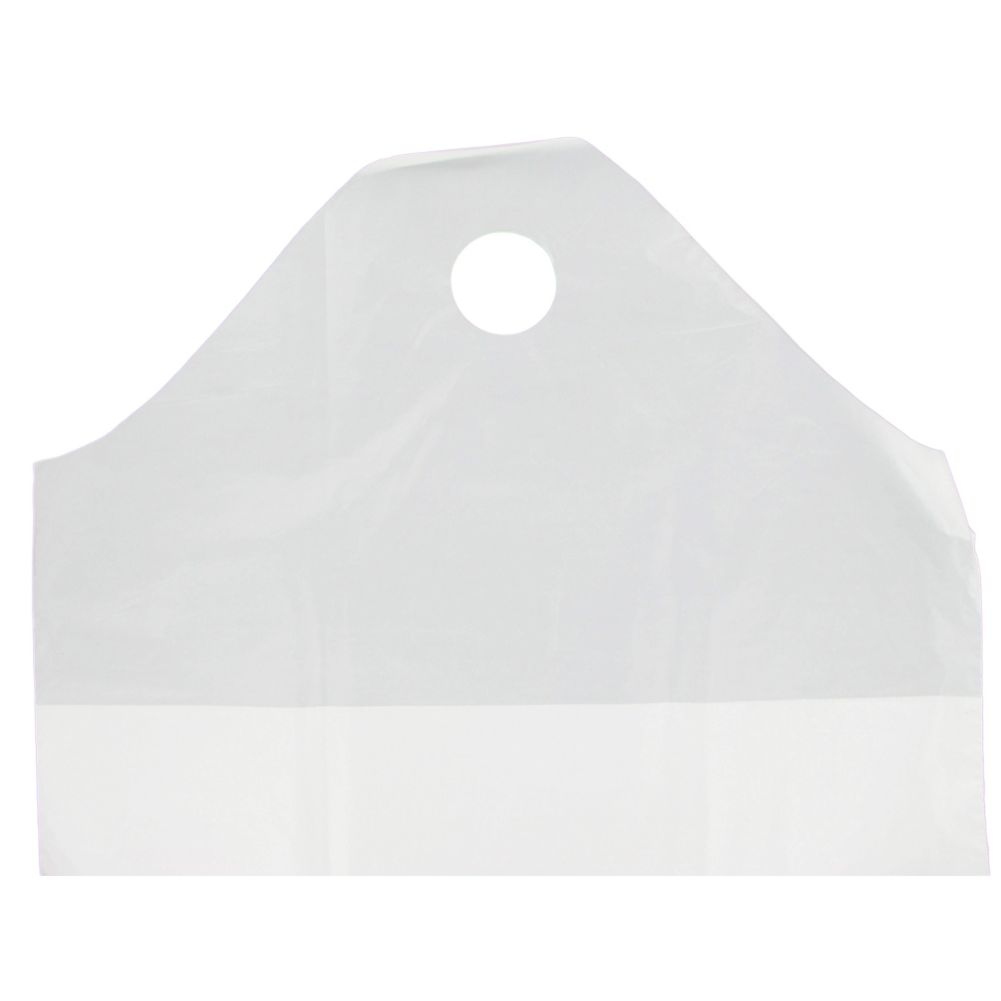 Command Packaging F21WT White Carry-Out Bag with Wave Top - 500 / CS