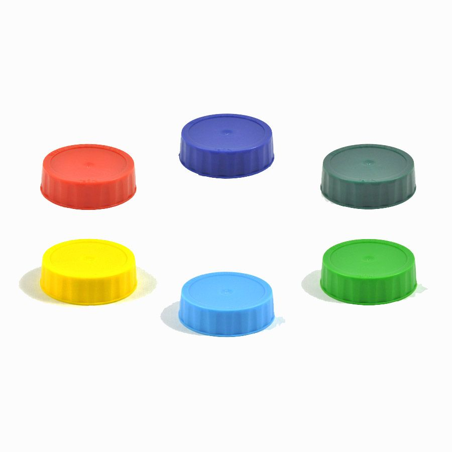FIFO 4810-999 Mixed Color Label Caps for FIFO Squeeze Bottles - 6 / PK