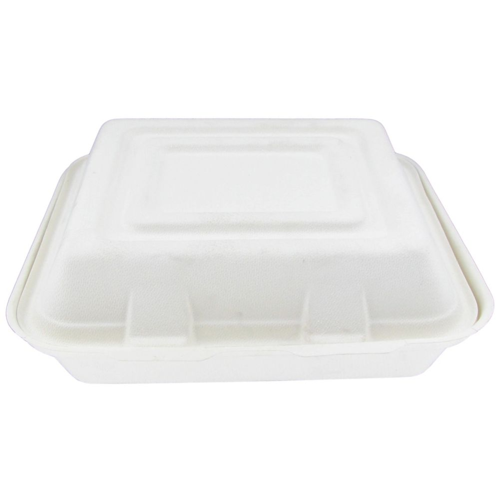 Stalk Market BCS103 Compostable 3-Compartment Container - 200 / CS