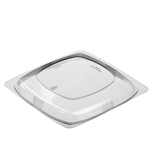 Par-Pak® 5FF200-DL Dome Lid For 32 - 64 Oz Square Bowls - 150 / CS
